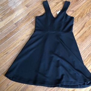 Nwt express black skater dress